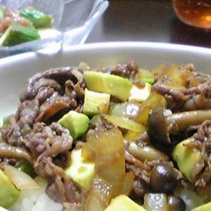 アボカド牛丼