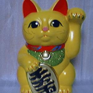 黄色い招き猫