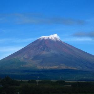今年の富士山の初冠雪は