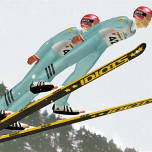 スキージャンプペア
